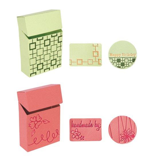 Набор больших текстурно-печатных штампов «Коробочка для сладостей»