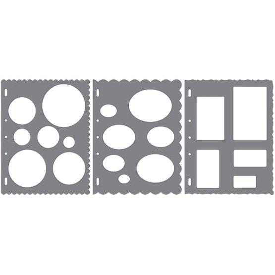 Трафарет ShapeTemplate™ Набор форм - Круги, Овалы, Квадраты