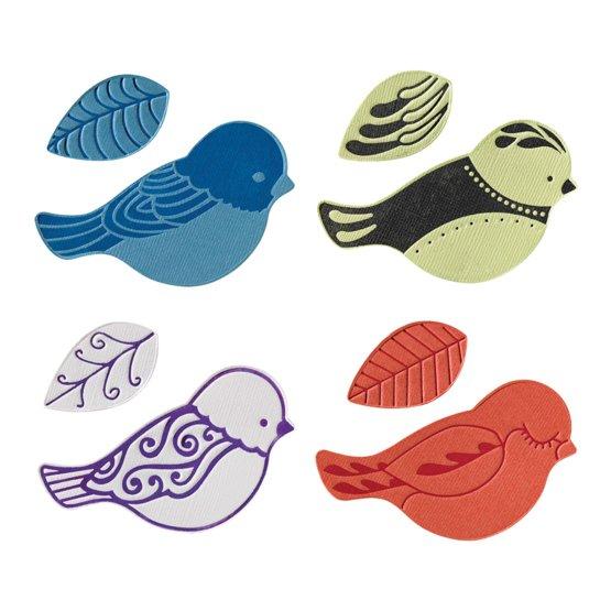 Набор средних текстурно-печатных штампов «Птица»
