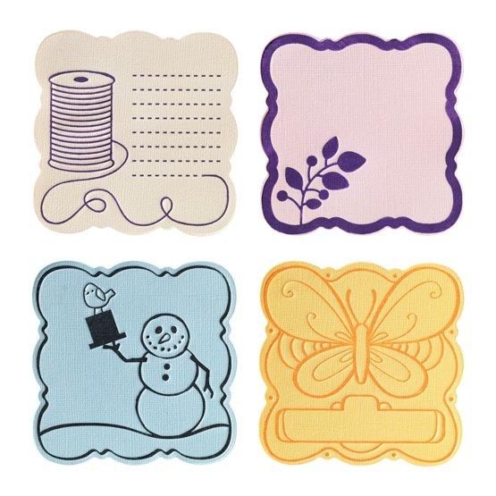 Набор средних текстурно-печатных штампов «Пышный квадрат»