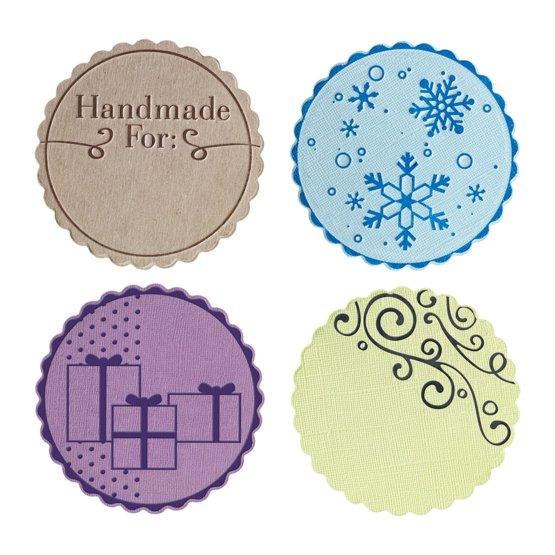Набор средних текстурно-печатных штампов «Круг с волнистыми краями»