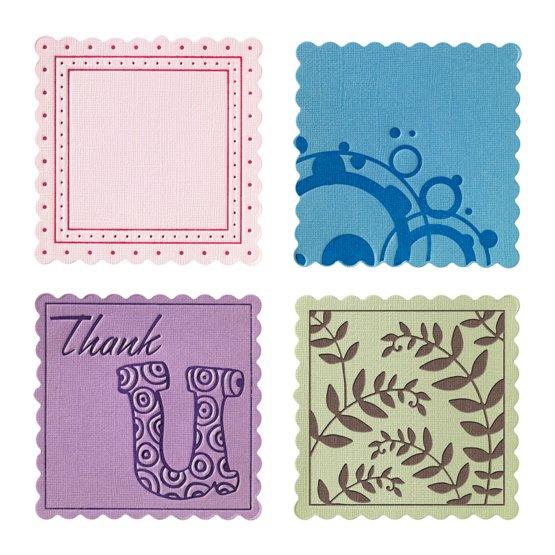 Набор средних текстурно-печатных штампов «Квадрат с волнистыми краями»