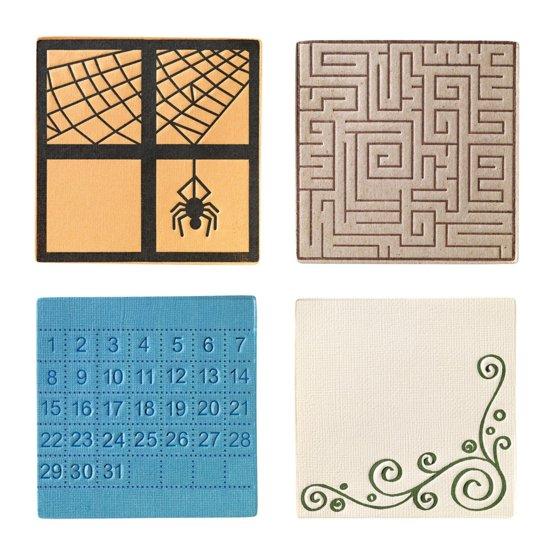 Набор средних текстурно-печатных штампов «Квадрат»