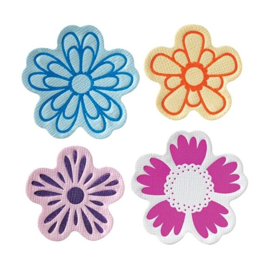 Набор малых текстурно-печатных штампов «Цветы»