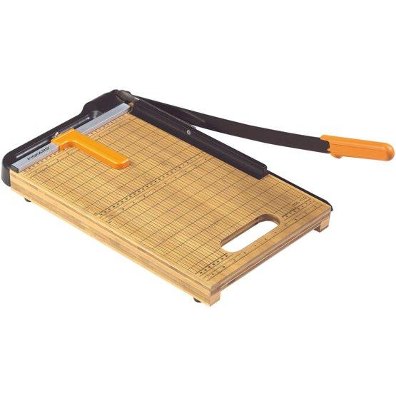 Гильотинный резак для бумаги из бамбука 30см A4 + лезвия с титановым покрытием